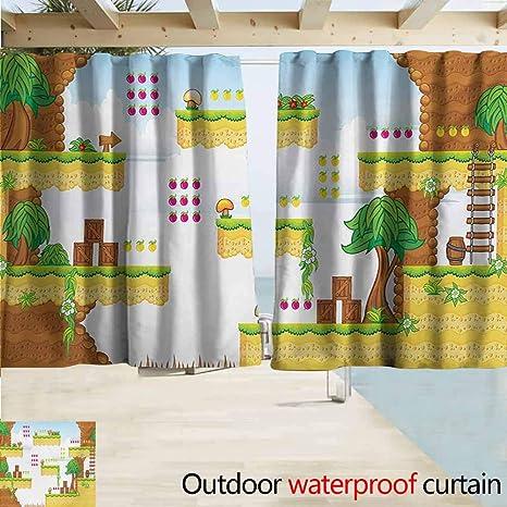 Amazon com : Outdoor Patio Curtains, Video Games Cartoon