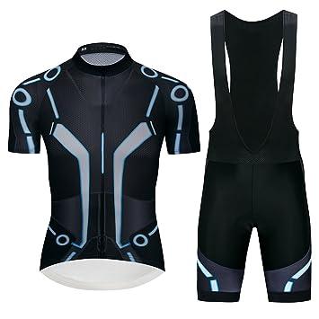 logas Ensemble Maillot Cyclisme Pro Manches Courtes Tenue Triathlon  Combinaison pour Homme f40b3ee94b2