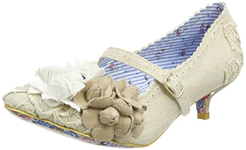 ca6af790c904 Irregular Choice Women s Daisy DayZ Off White Kitten Heel Court Shoe Off  White UK 6 -
