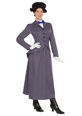 Mary Disney Film Victorian Fancy Nanny Englisch Poppins Kostüm Kleid cuFJlT315K