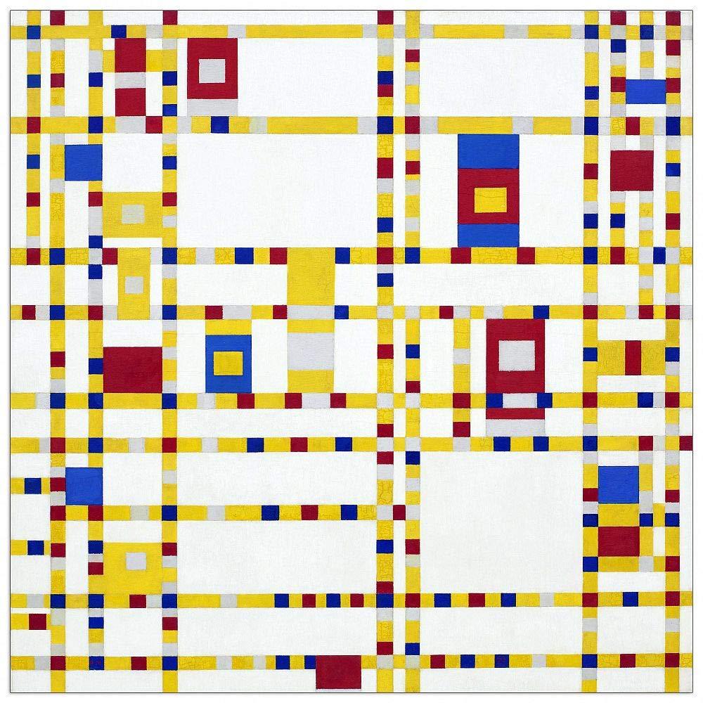 ArtPlaza TW92393 Piet Mondrian - Broadway Boogie Woogie Decorative Panel, 43.5x43.5 Inch, Multicolored by ArtPlaza
