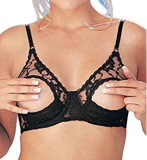 484d2b0f692c4 Amazon.com  Empire Intimates Open Tip Bra Lace Full Figure Push-up ...
