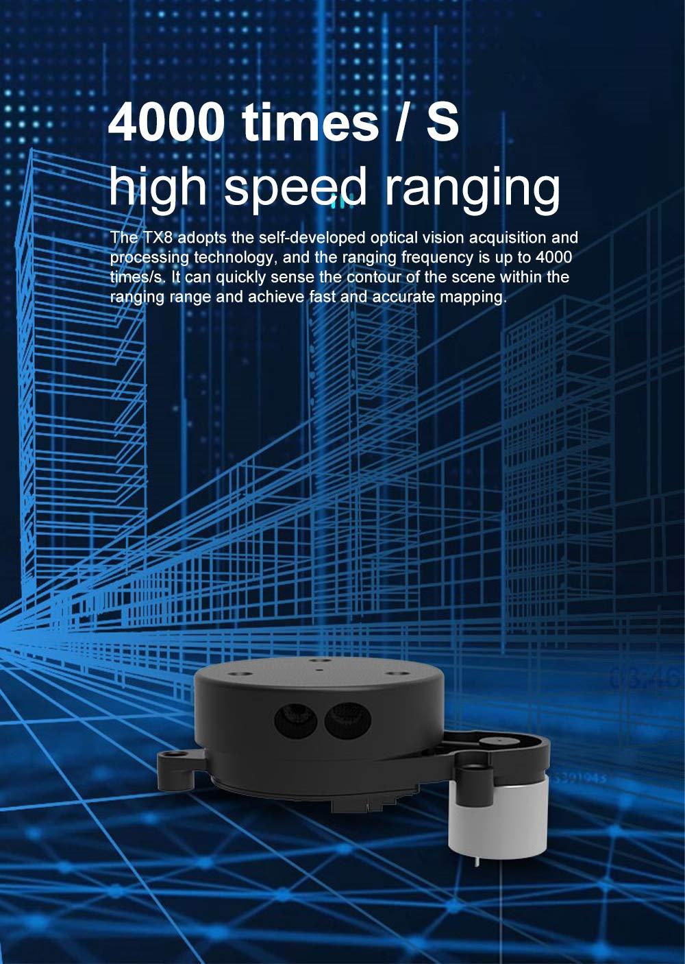 EAI YDLIDAR G2 Lidar - Módulo de Sensor de Rango (12 m, 5 K ...