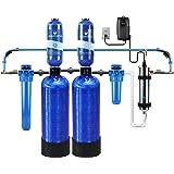 Aquasana AST-WH-C-R EQ-WELL-BUNDLE Whole House System-Water Softener Alternative w/UV Purifier, Salt-Free Descaler, Carbon &