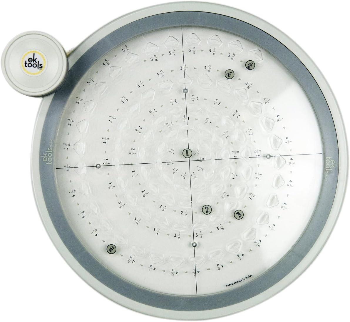 Dimensions EK Success Circle Punch Machine Large 2 1//2 Pouces