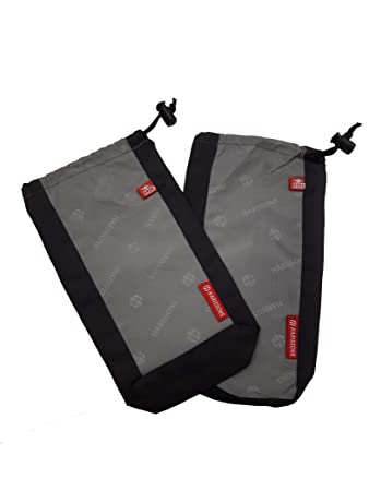Harissons Bags Mobile, Laptop, Accessories Cable Pouch, Charger Pouch Set of 2 (Black Grey)