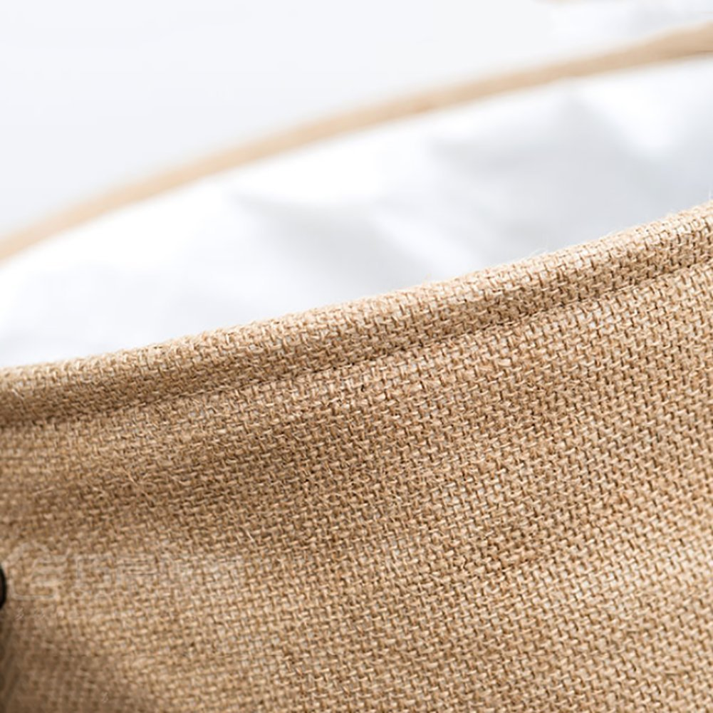 Thicken linen laundry hamper,Household storage bin storage basket fold laundry basket for college dorm-C 35x45cm(14x18inch) by AMYDREAMSTORE (Image #7)