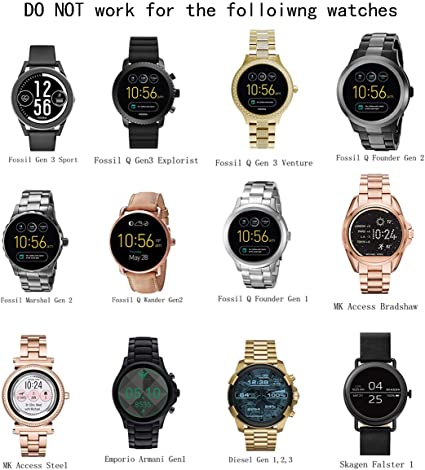 Fossil Gen 5/4 Charger,Charging Dock for Fossil Julianna Carlyle,Sport,Emporio Armani,Michael Kors Runway,Skagen Falster 2,Kate Spade Scallop 2,Misfit ...