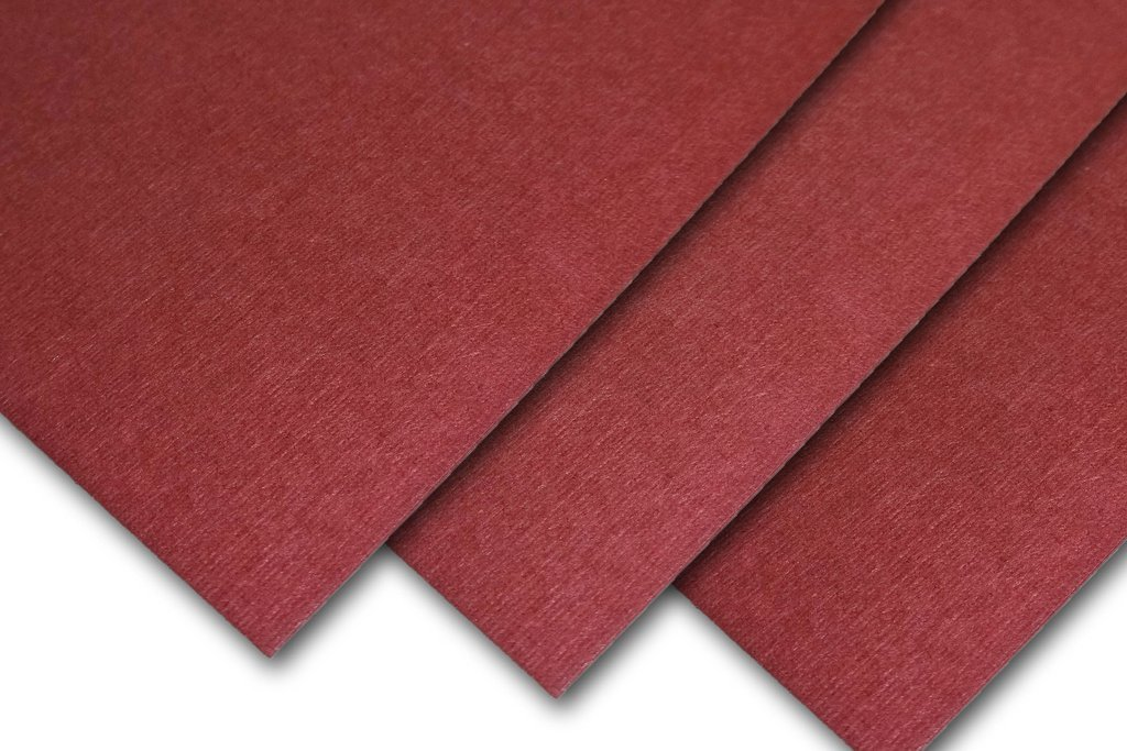 Royal Linen Textured 5'' x 7'' inch 80# Cover Card Stock - 216gsm 30% Recycled Content (Burgundy, 200 Pack) by CutCardStock