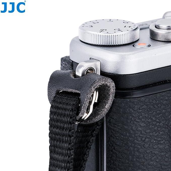 JJC NS-OA1 Accesorio para correa – Anilla de cuero redonda para la ...