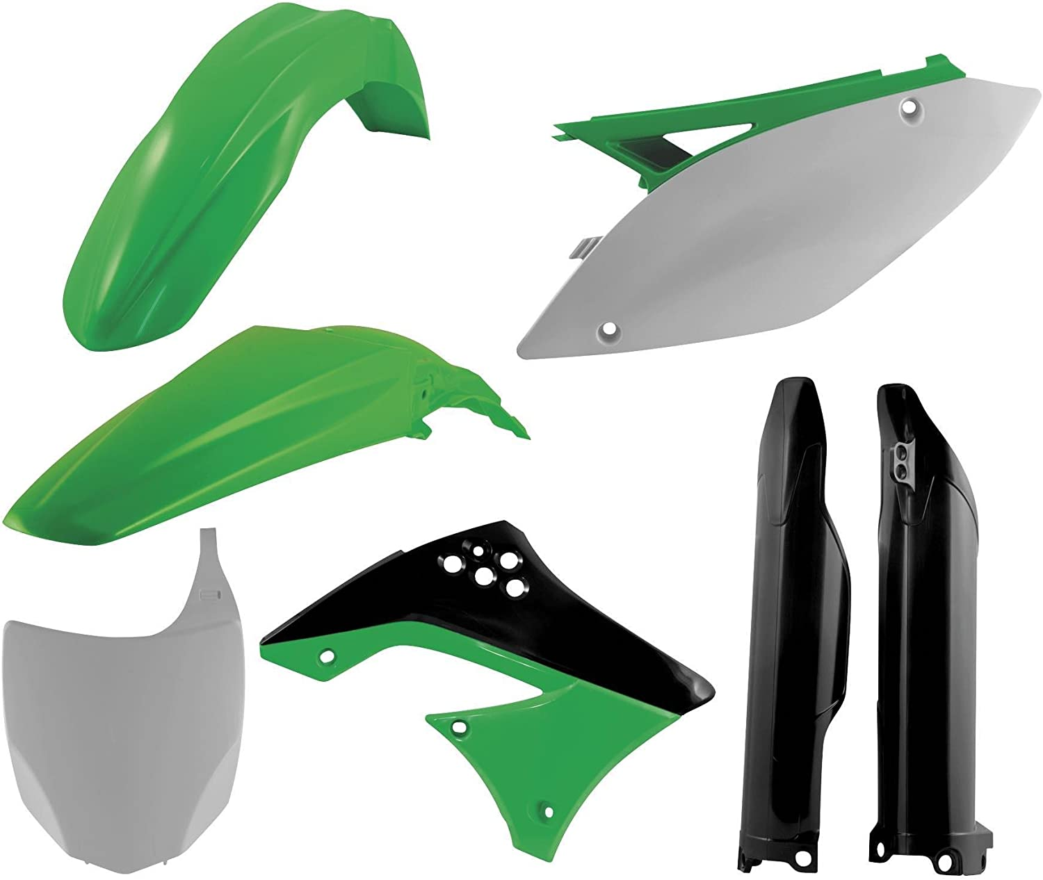 Color Original 02 Acerbis Plastic Kit Green 2071000243