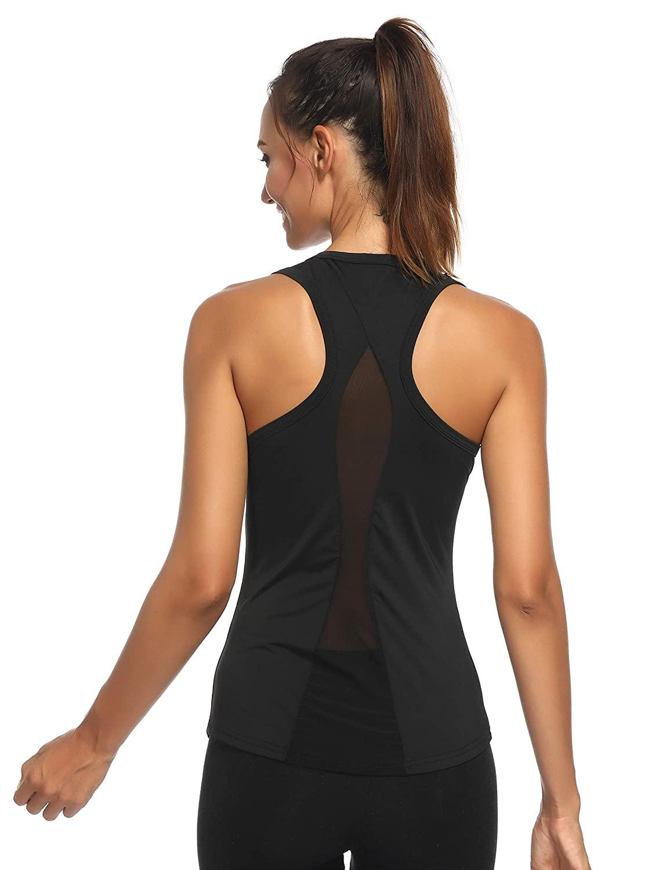 c7fb6b7cfb4 Top1  Aunis Women s Yoga Tank Top Activewear Workout Clothes Sleeveless  Sexy Sports Shirt