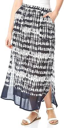 Roman Originals - Faldas de cintura elástica para mujer, 100% algodón, bohemias