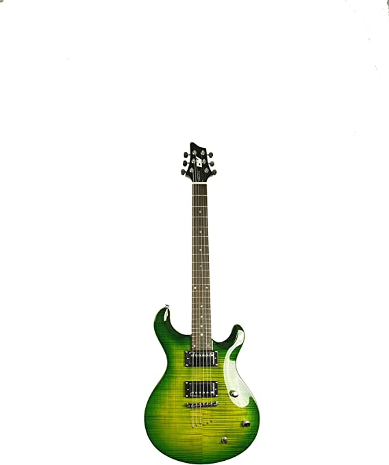 Trans Green ivy IP-350 TGR PRS Solid-Body Electric Guitar