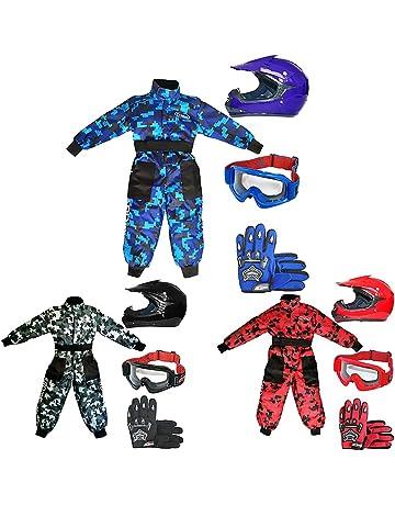 53-54cm /& Gloves L Leopard LEO-X17 Red Kids Motocross Helmet L 5-6Yrs /& Goggles Children Kids Motorbike Race Suit S 7cm