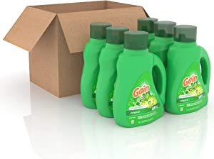 GAIN Gain + Aroma Boost Liquid Laundry Detergent, Original, 25 Loads, 40 Fl Oz (Pack of 6)