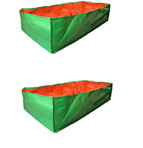 Evergreen Terrace Gardening Leafy Vegetable Green Grow Bag, 36 X 12  X 12 (Pack Of 2 )