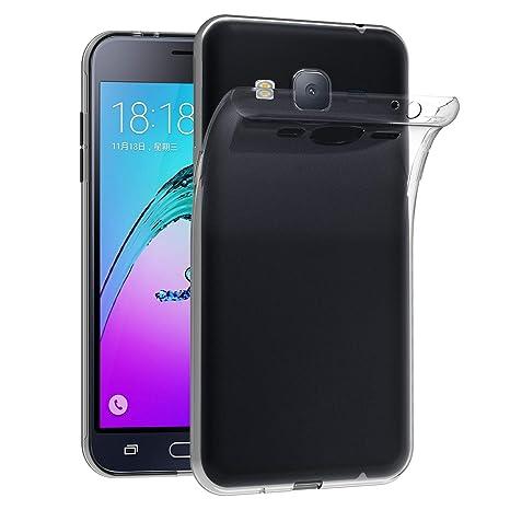 iVoler Funda Carcasa Gel Transparente Compatible con Samsung Galaxy J3 2016, Ultra Fina 0,33mm, Silicona TPU de Alta Resistencia y Flexibilidad