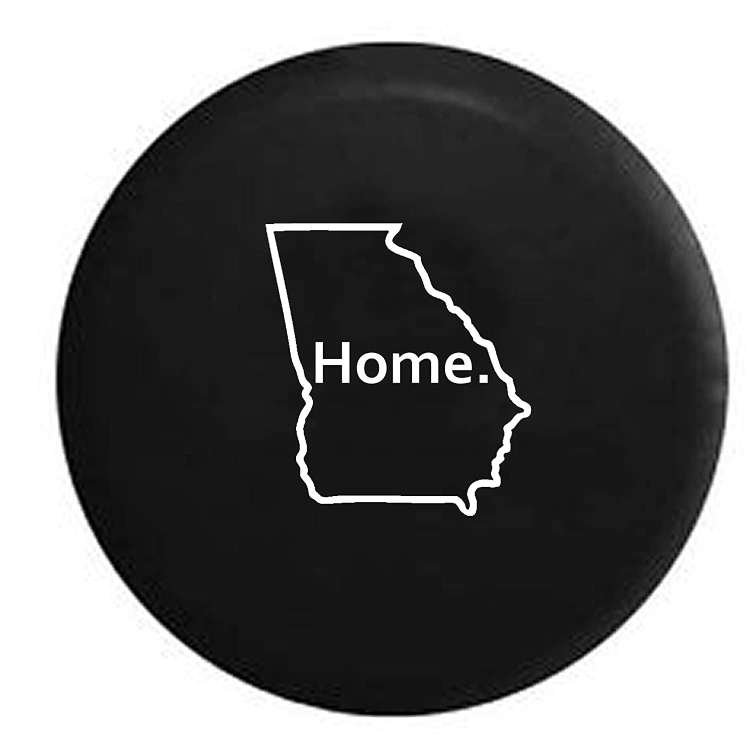 Georgia Peach Home Edition Spare Tire Cover Vinyl Black 33 in American Unlimited Gear