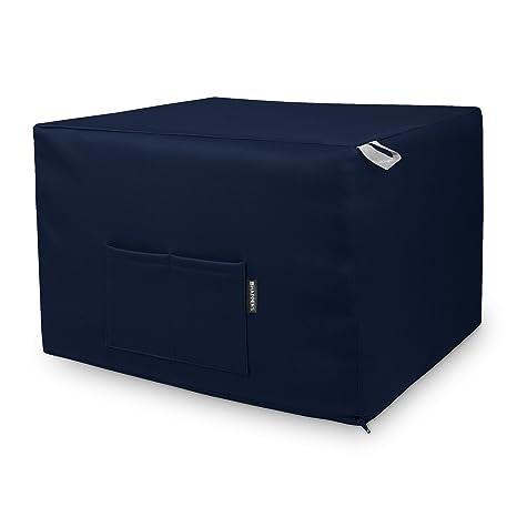 HAPPERS Puff Marino Convertible en Cama cómoda con Funda de Polipiel incluida, Futón con Cama colchon, colchoneta Convertible en Puff o cómodo sillón ...