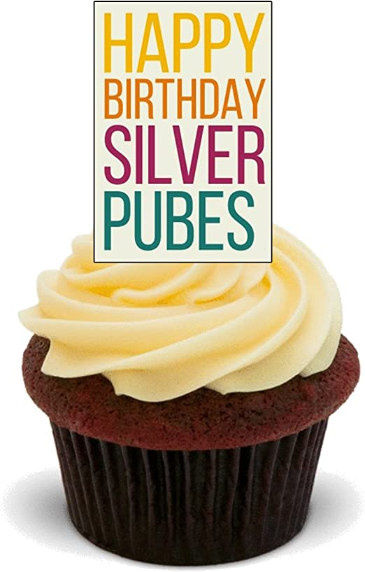 Excellent Made4You Happy Birthday Silver Pubes Funny Rude Edible Cake Funny Birthday Cards Online Sheoxdamsfinfo