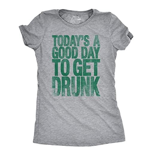952457eeb Amazon.com: Womens Good Day to Get Drunk Funny Drinking Beer Party T ...