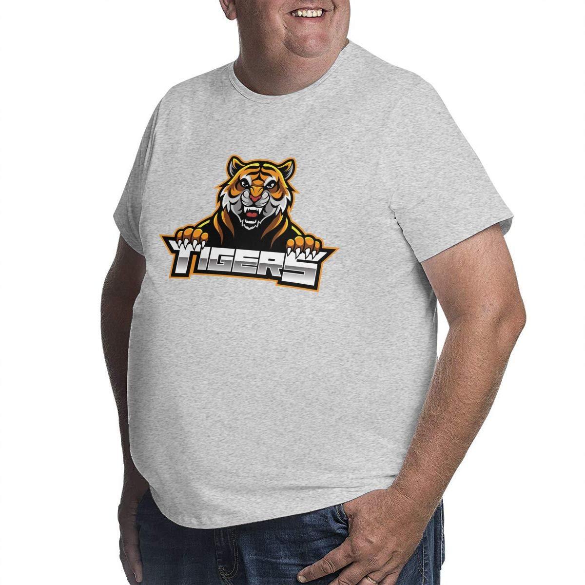 LONGTENG Designed T Shirt Catoon Tiger Big Size T-Shirt O-Neck 100/% Soft Cotton for Men Black