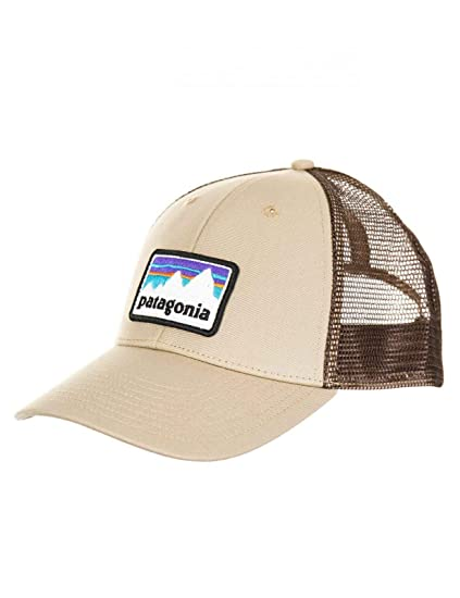 229c68dfffe4f Amazon.com  Patagonia Mens Shop Sticker Patch LoPro Trucker Hat (El Cap  Khaki)  Sports   Outdoors