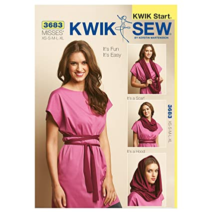 Kwik Sew K3683 Fun And Easy Tunic Sewing Pattern Belt And Scarf