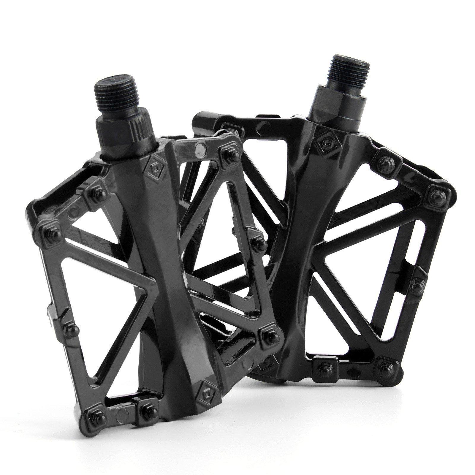 "9//16/"" Pedals Cycling Mountain MTB//BMX Bike Bicycle Bearing Flat-Platform White"