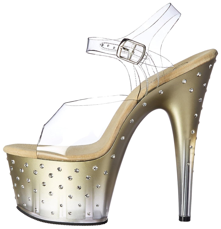 Pleaser Women's 5 Stdus708t/c/g-c Platform Sandal B01MTZQTAQ 5 Women's B(M) US|Clr/Gold-clr e2f611