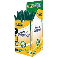 BIC Cristal Original Ballpoint Pens Medium Point (1.0 mm) – Green, Box of 50