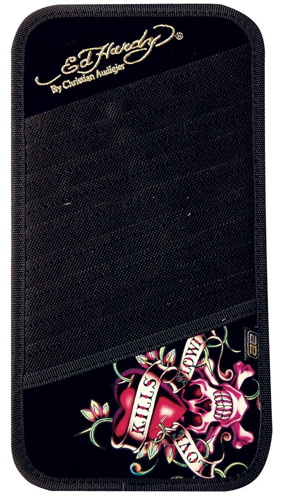 Ed Hardy Love Kills Slowly CD/DVD Visor Organizer - Holds 10 CD's or DVD's by Auto Expressions