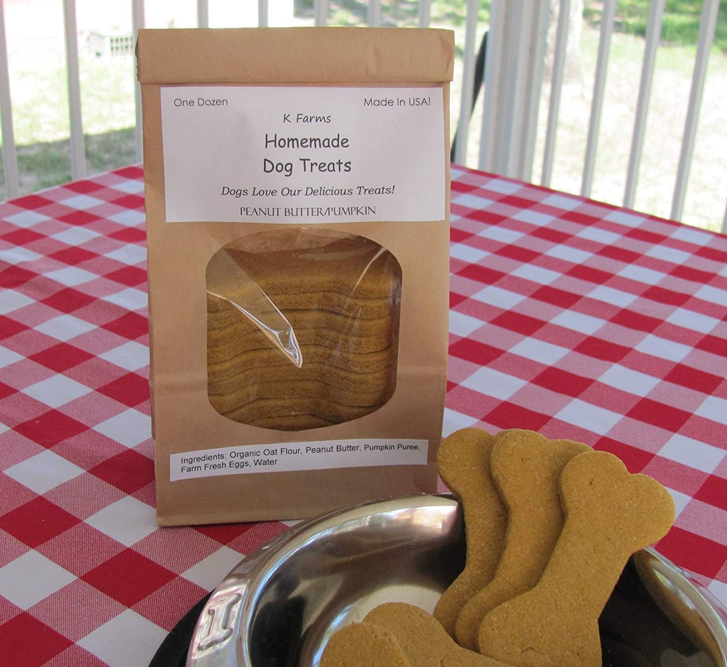 Healthy Hypoallergenic Peanut Butter and Pumpkin Dog Treats, Made in USA