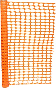 BISupply 4 FT Safety Fence – 100FT Plastic Fencing Roll for Construction Fencing Pet Fencing and Event Fencing, Orange
