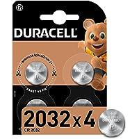 Duracell Özel 2032 Lityum Düğme Pil 3V, 4'li paket (CR2032) anahtarlıklar, tartılar, giyilebilen eşyalar ve tıbbi…