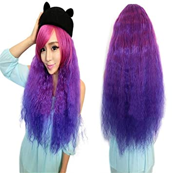 Futuretrendnew Arrival Harajuku Lilita Style Curly Kinky Ombre Wigs Costume Full Wig+free Wig Cap