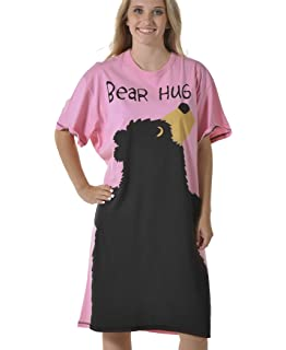 a0a0d22fc3 Amazon.com  Women s Animal Pajama Nightshirt by LazyOne