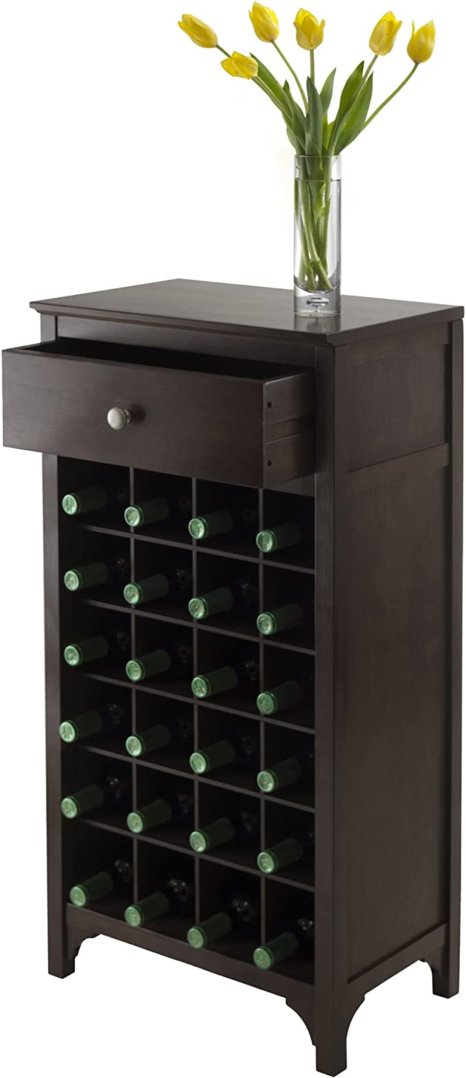 15.47 by 9.25 by 4.65-Inch Winsome Wood Ancona Wine Cabinet