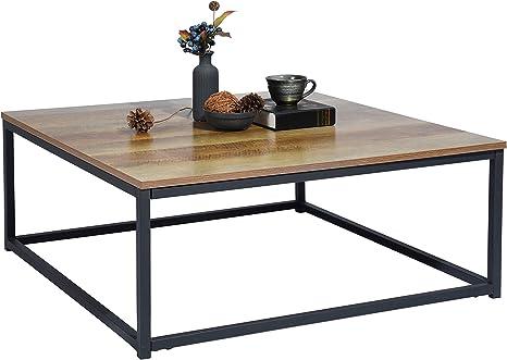 Meubles Cosy Square Oak Coffee Table Amazon De Kuche Haushalt