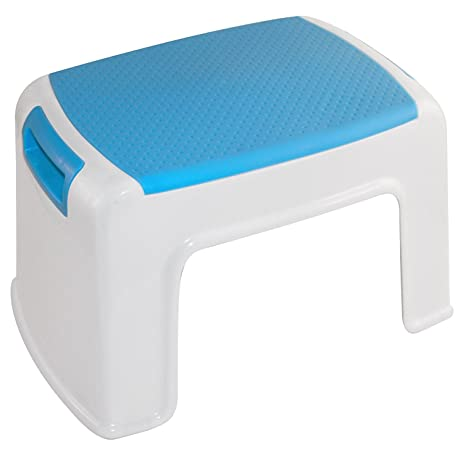 LDR Child Friendly Bathroom Step Stool With Anti Slip Surface And Easy Grip  Handles
