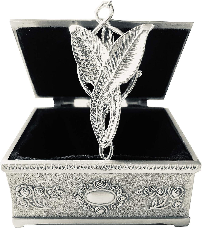 Arwen Collier avec pendentif /étoile du soir en argent avec bo/îte /à bijoux