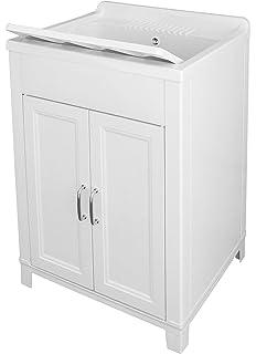 Bormioli A Mueble Lavabo de Resina para exteriores, blanco: Amazon.es: Bricolaje y herramientas