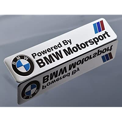 JD PARTS LLC 1x M Performance Motorsport Alloy Sticker Badge Decal Emblems for BMW All Series: Kitchen & Dining