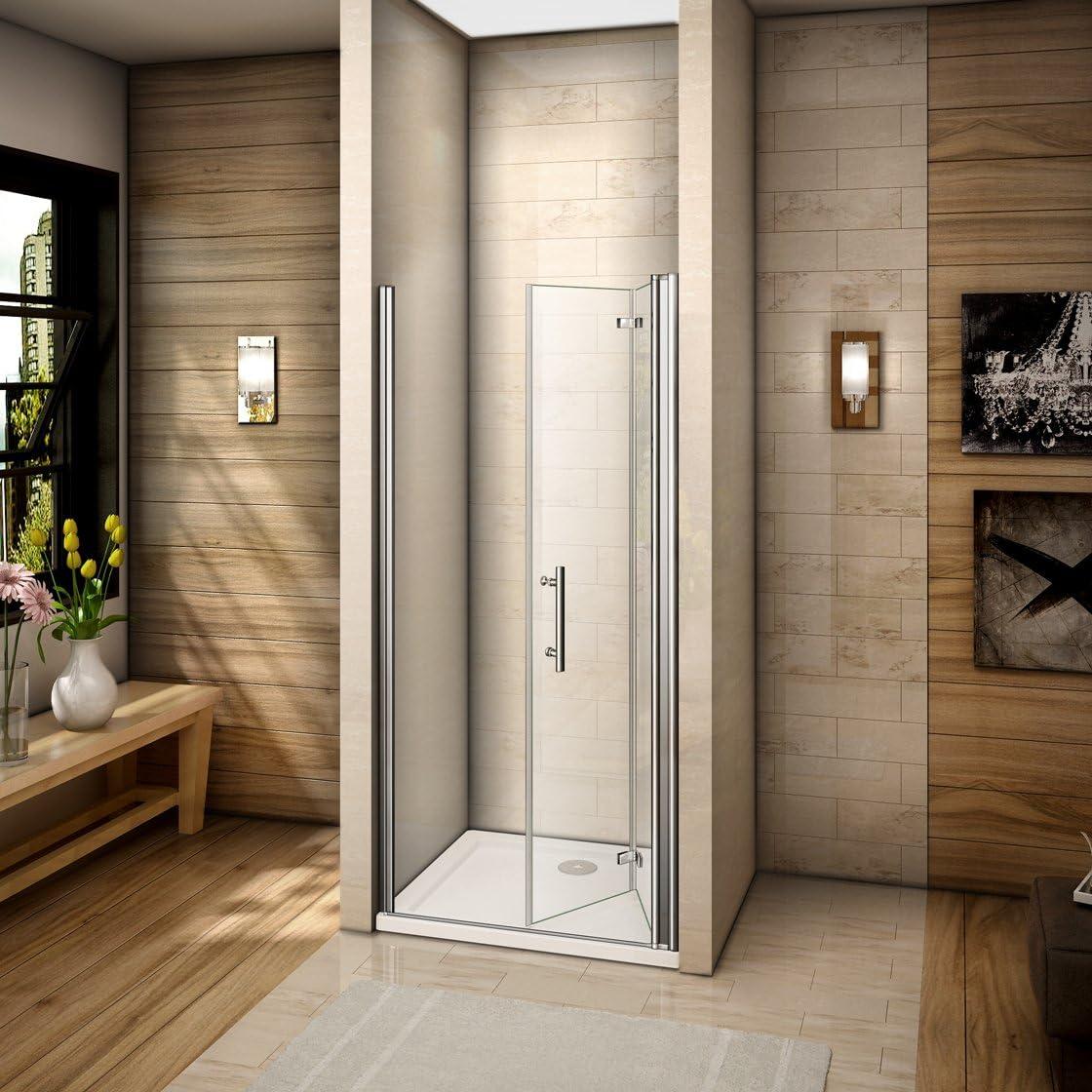 90x185cm Mamparas de ducha Pantalla baño plegable puerta de ducha ...
