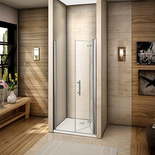 100x185cm Mamparas de ducha Pantalla baño plegable puerta de ducha ...