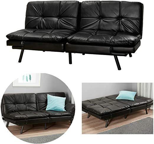 Sleeper Sofa Bed Folding Down Sofa Convertible Living Room Futon Split Seat NEW