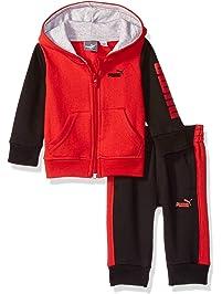 11e808412c PUMA Baby-Boys Boys' Fleece Zip Up Hoodie Set Hooded Sweatshirt