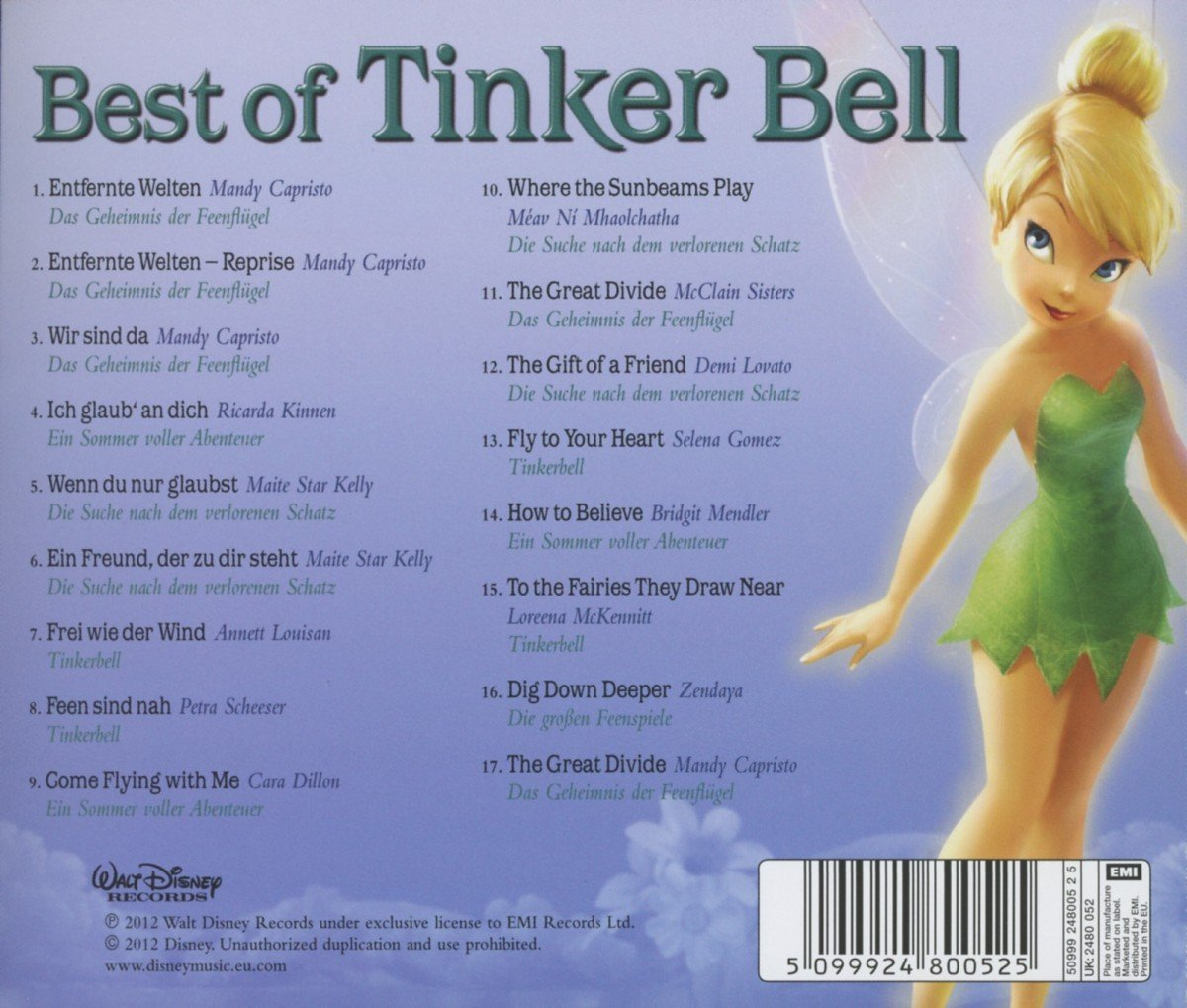 ティンカー・ベルのBest of Tinker BellのCDジャケット裏