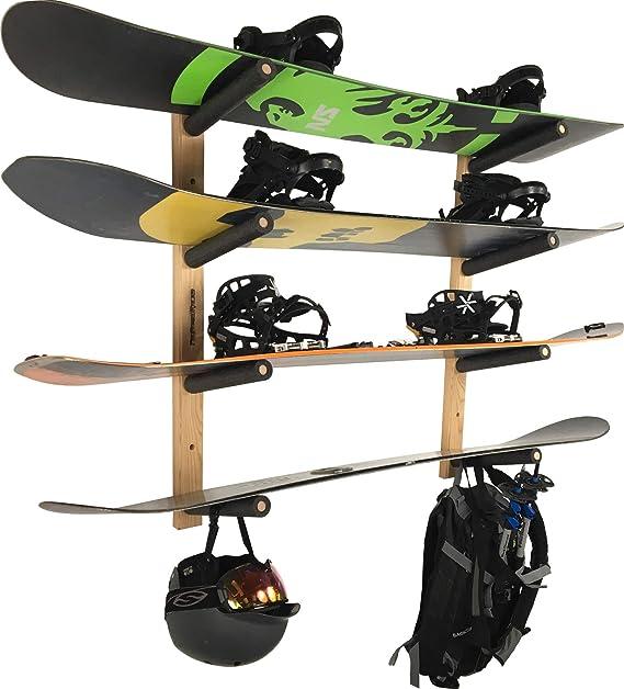 Snowboard STAUBER Red Hook Snowboard Hanger Skateboard Storage Rack Ski Display Graphic Snowboard Wall Mount